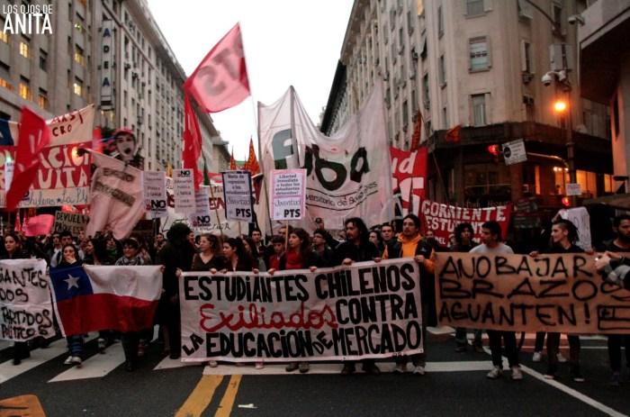Manifestation de Chiliens à Buenos Aires